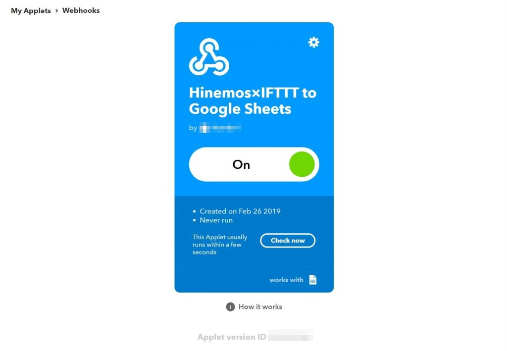 Hinemos x IFTTT] Output monitoring results to Google