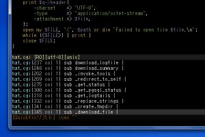 QuickFixリストを使用して、Perlのサブルーチン一覧を表示する